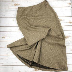 Ralph Lauren Wool Plaid Skirt